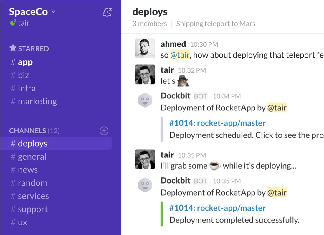 Feature chatops slack